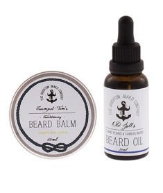 The Brighton Beard Co-Beard Balm & Oil JASMIN AND LEMON/YLANG YLANG & SANDALWOOD  Zestaw Brodacza