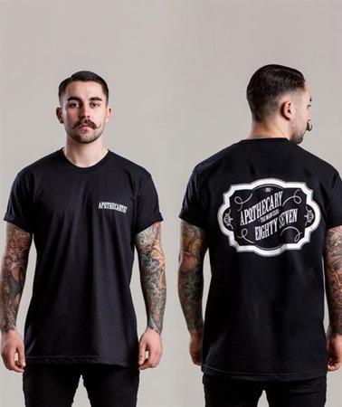 Apothecary 87-Vintage Design T-Shirt Black