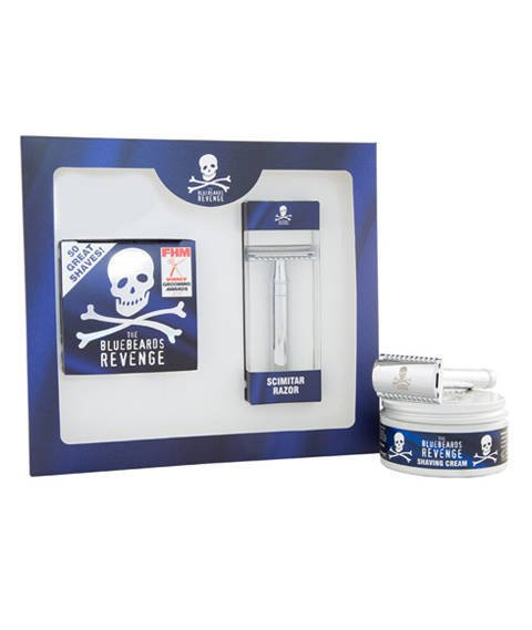 Bluebeards Revenge-Shaving Cream & Scimitar Razor Kit Zestaw do Golenia