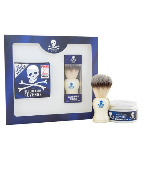 Bluebeards Revenge-Shaving Cream & Vanguard Brush Kit Zestaw do Golenia