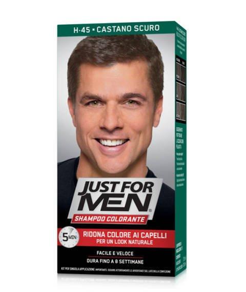 Just for Men-Szampon Odsiwiający do Włosów H-45 Dark Brown