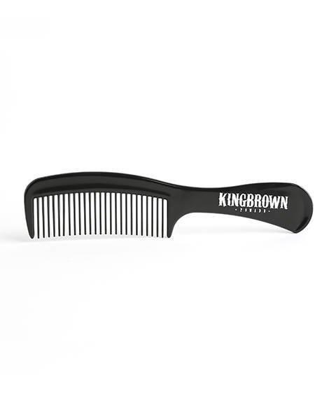 King Brown-Black Handle Comb Grzebień do Włosów