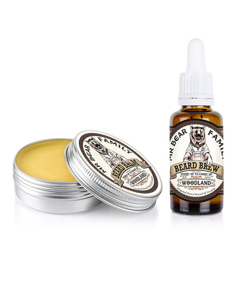 Mr Bear-Beard Balm & Oil Woodland Kit Zestaw Brodacza