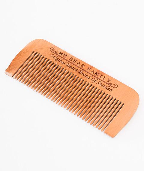 Mr Bear-Wooden Beard Comb Grzebień do Brody