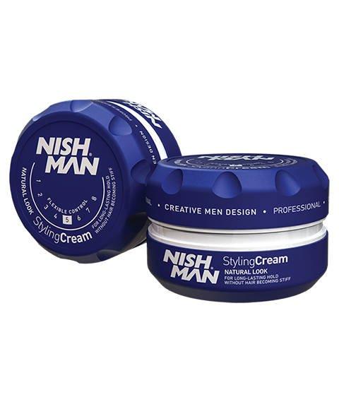 Nishman-Natural Look Styling Cream Pomada do Włosów 150 ml