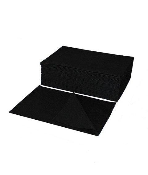 Ręcznik z Włókniny Perforowany 70x40 BLACK (100 szt.)