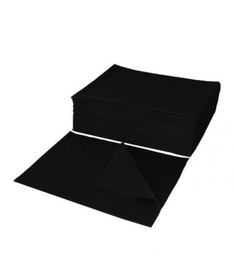 Ręcznik z Włókniny Perforowany 70x50 BLACK (100 szt.)