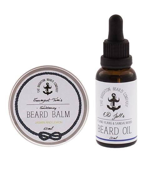 The Brighton Beard Co-Beard Balm & Oil JASMIN AND LEMON/YLANG YLANG & SANDALWOOD  Zestaw Brodacza