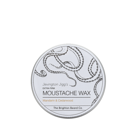 The Brighton Beard Co-Jevington Jigg's Extra Firm Moustache Wax Mandarin & Cedarwood Wosk do Wąsów 30ml